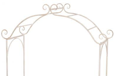 Puutarhakaari penkillä, valkoinen