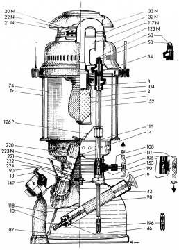 Petromax 500 CP rakennepiirustus